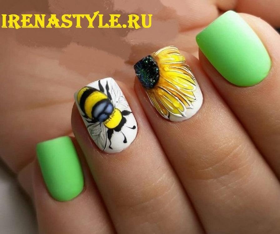 Покрасить ногти гель лаком фото