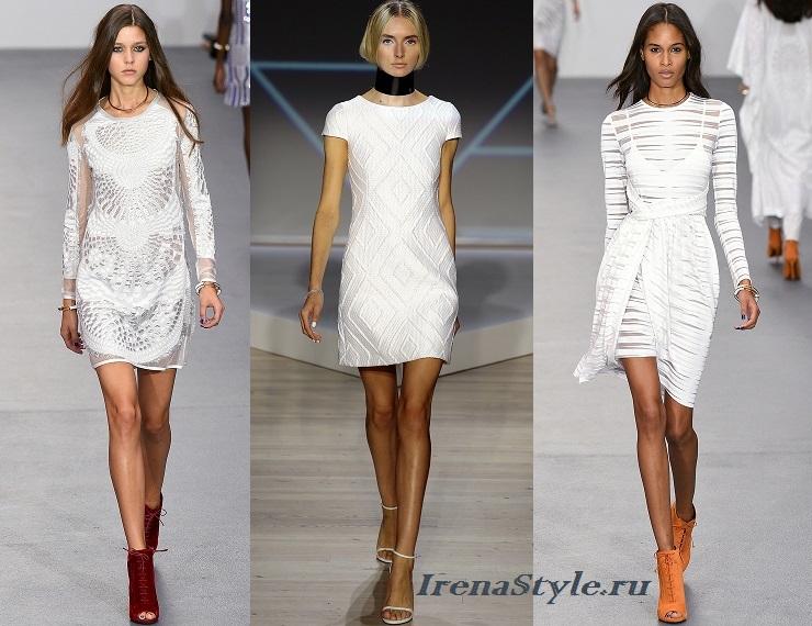 Модные белые платья 2016 новинки тенденции 57 фото