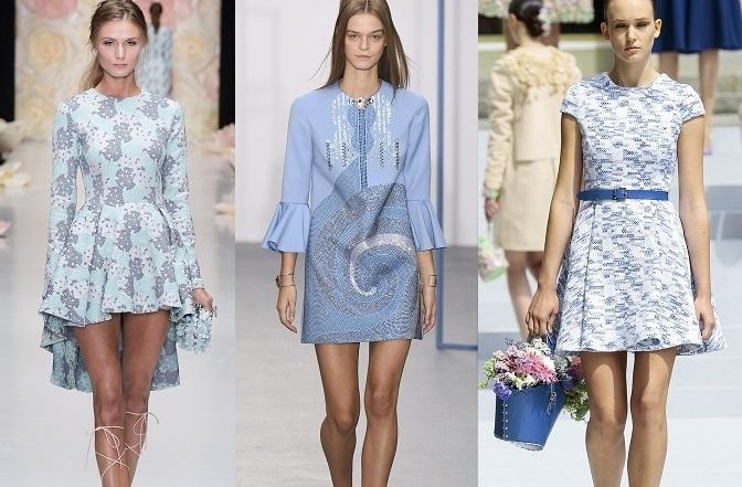 Модное голубое платье 2016 с чем носить фото советы новинки