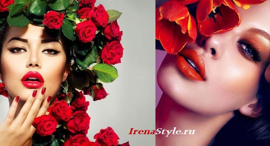 Красивый макияж с красной помадой 2016 стильные идеи 30 фото