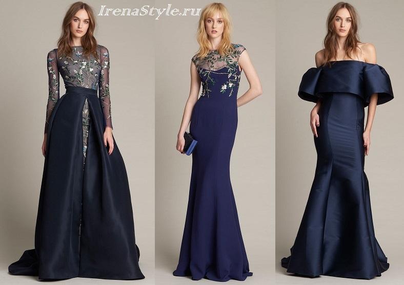 Модные платья синего цвета 2021 с чем носить фото тенденции