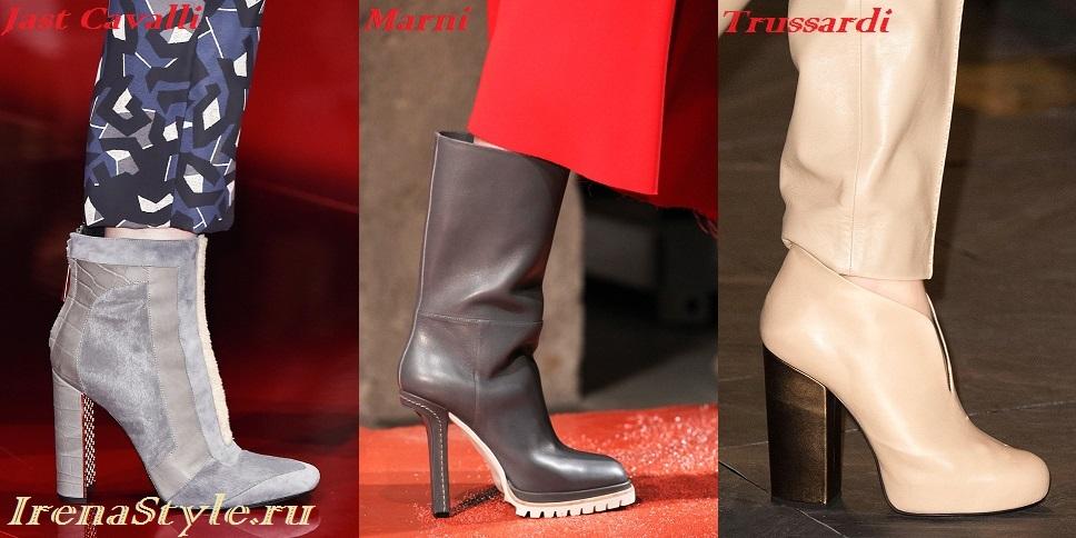 Модные женские ботинки 2016 фото тенденции стильные новинки