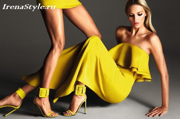 Яркие желтые платья 2016 модные тенденции фото новинки
