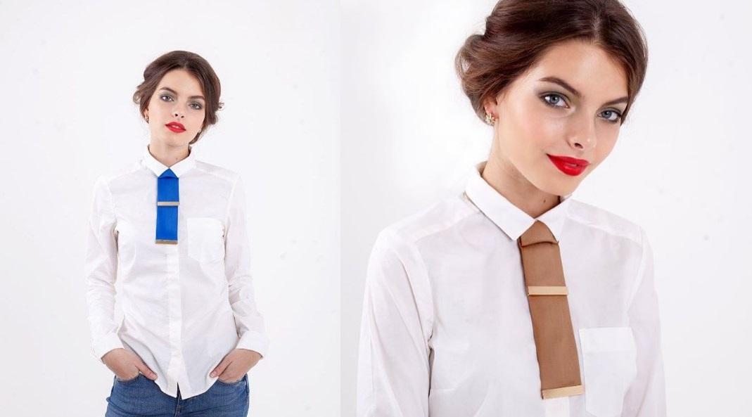 Женский галстук 2021 фото как завязать и с чем носить