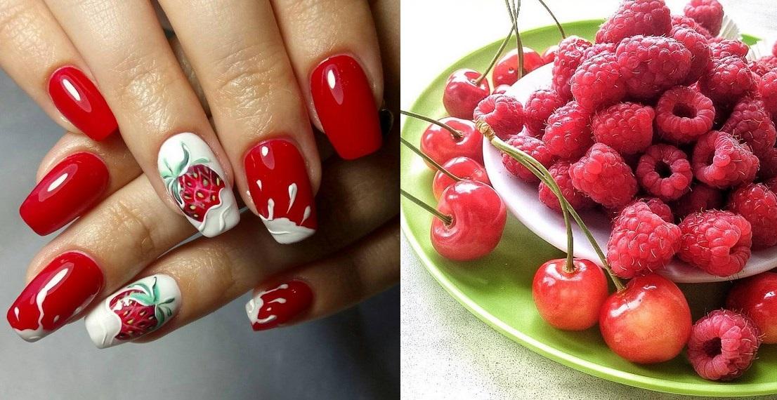 Дизайн ногтей с фруктами картинки