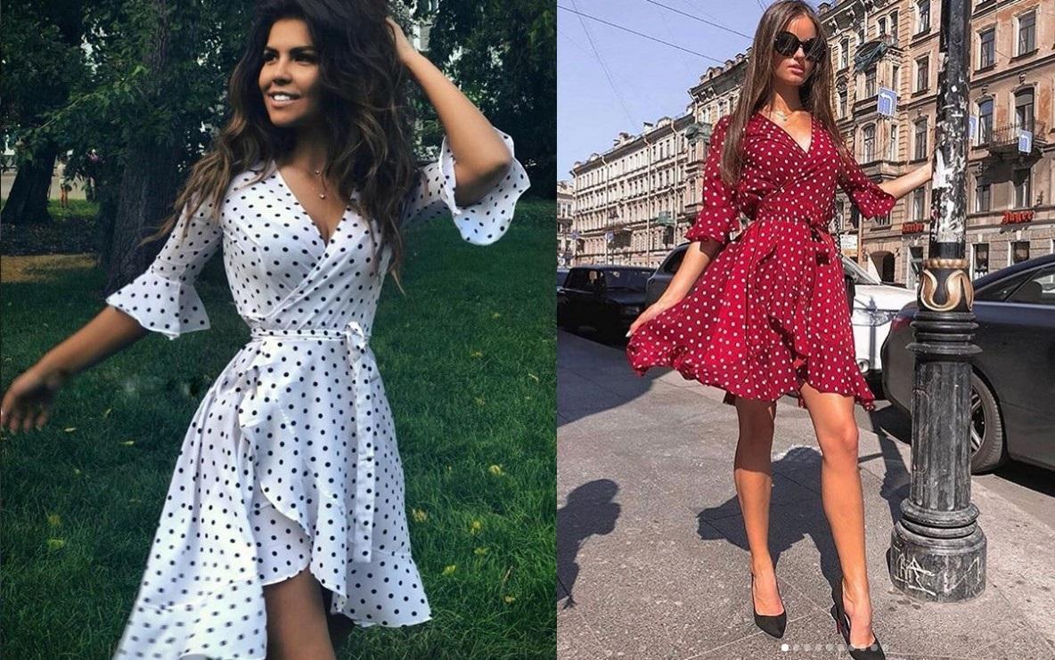 Принт горох в женской моде 2021 модный ТРЕНД НОВИНКИ фото