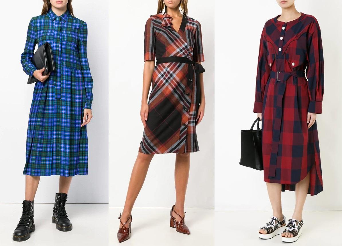 Платья В Клетку 2021 Модные Тенденции