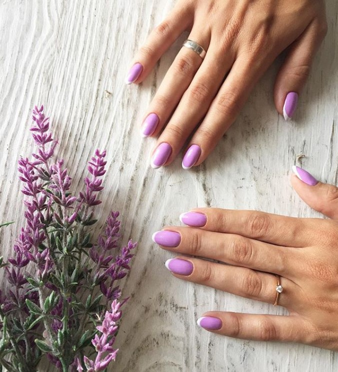 Маникюр фиолетового цвета фото 2019 НОВИНКИ ВАРИАНТЫ ИДЕИ