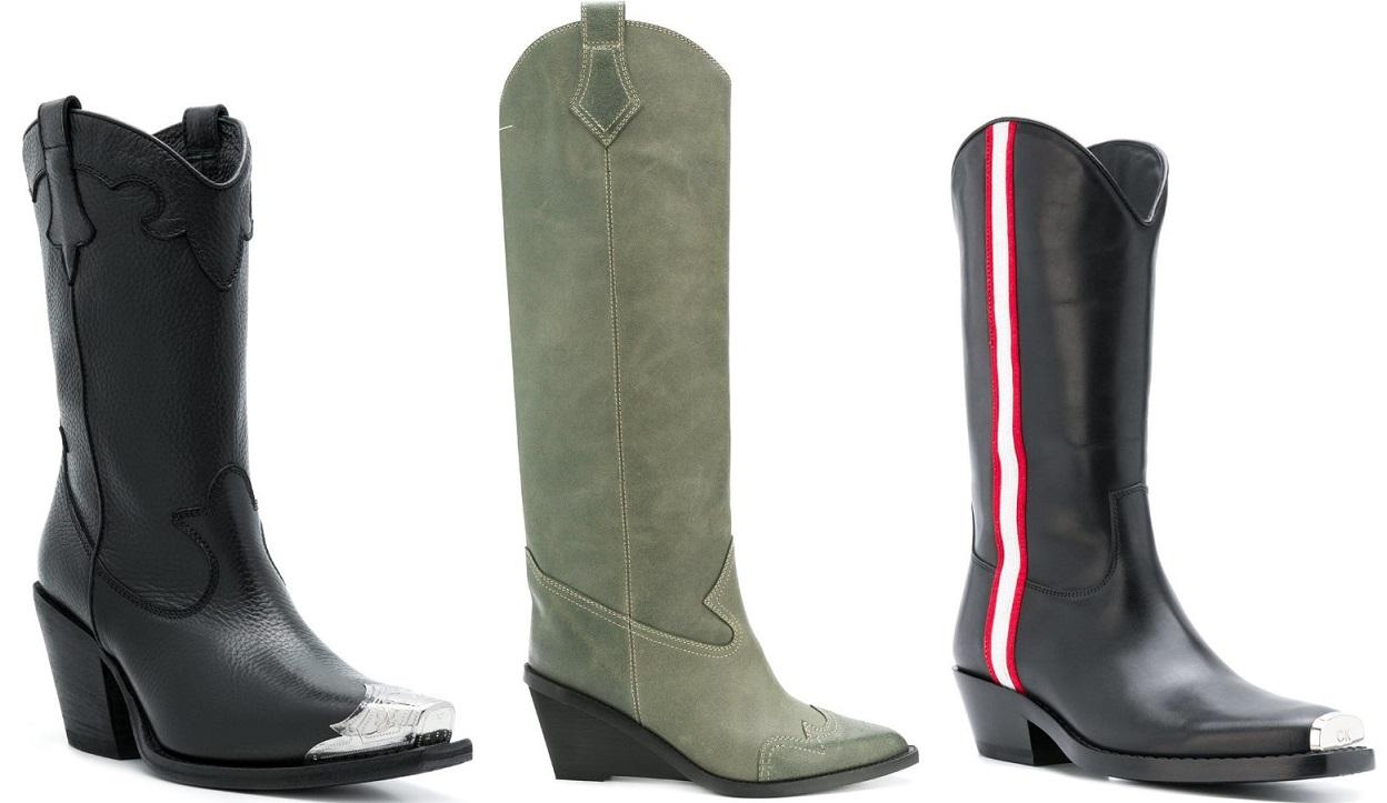 Ковбойские ботинки женские модный тренд 2021 года ФОТО