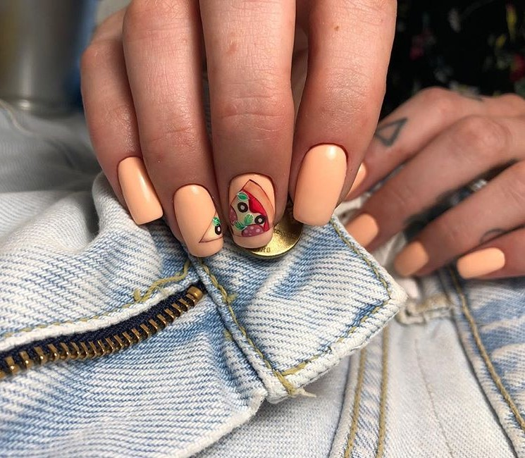 Рисунки на ногтях гель-лаком весна-лето 2021 ДИЗАЙН 58 фото
