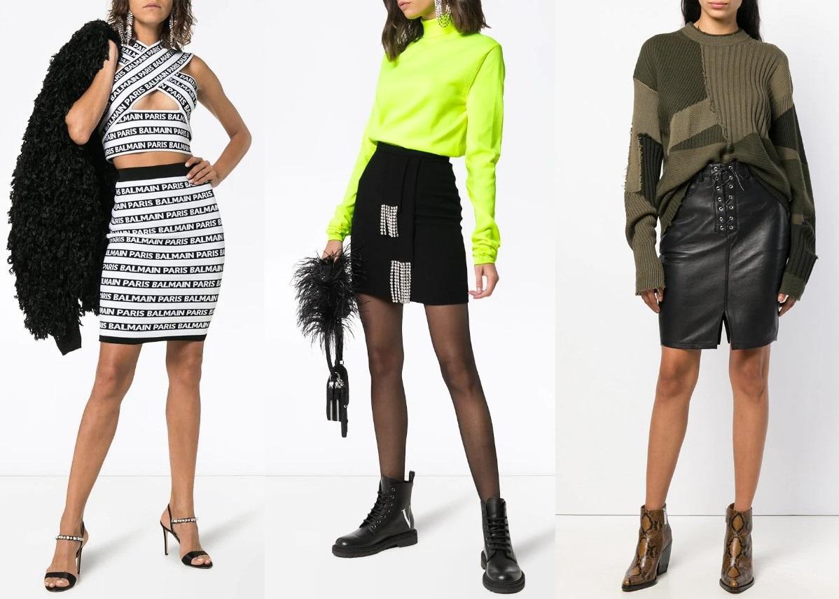 Модные юбки до колена новинки и тенденции 2019 года фото