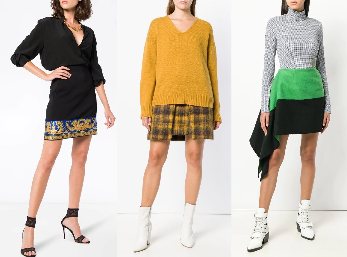 Модные юбки до колена новинки и тенденции 2021 года фото