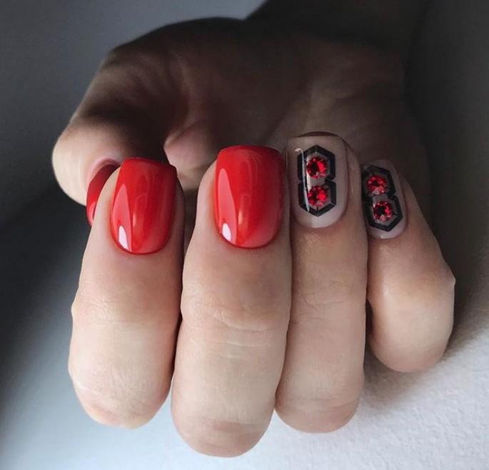 Новый зимний дизайн ногтей гель-лаком 2019 модные фото