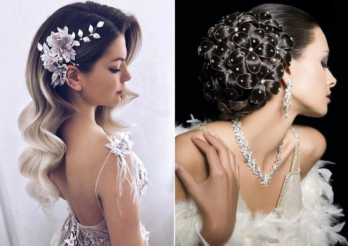 Красивые свадебные прически 2020 года: роскошные идеи с фото