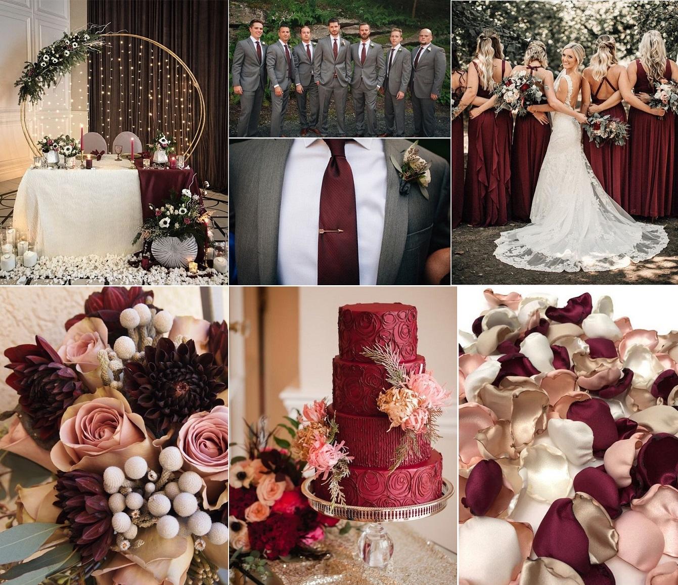 Свадьба в цвете марсала 2021 – роскошь и благородство, фото