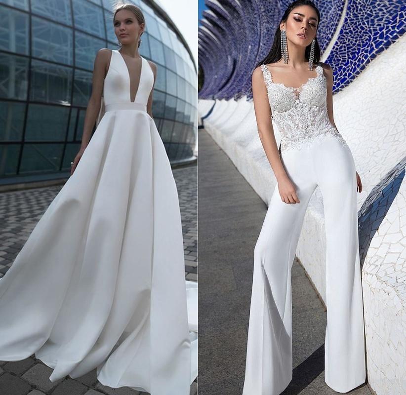 Модные свадебные платья для второго брака 2021: новинки фото