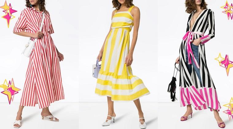 Мега стильные платья в полоску весна-лето 2021: фото, тренды