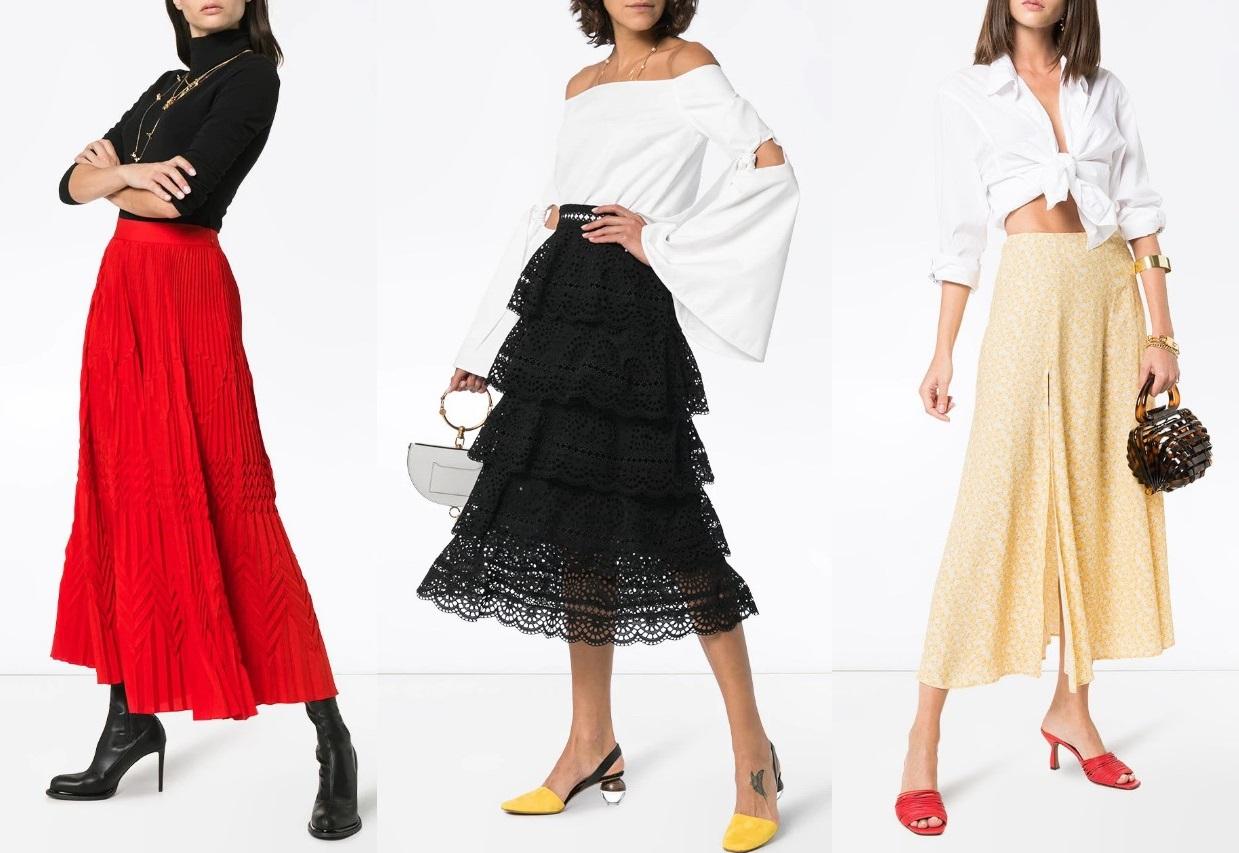 С чем модно носить юбку в сезоне весна-лето 2020 - фото идеи