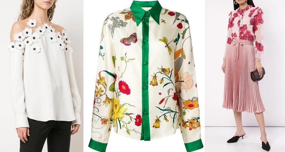 Женские блузки весенне-летнего сезона 2020 - образы, 48 фото