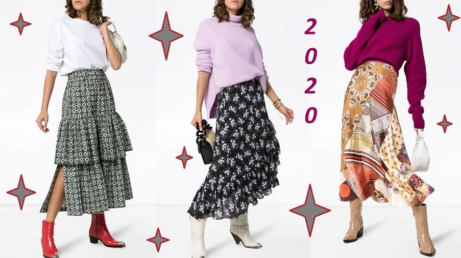 С чем носить длинную юбку и быть в тренде – правила, 58 фото