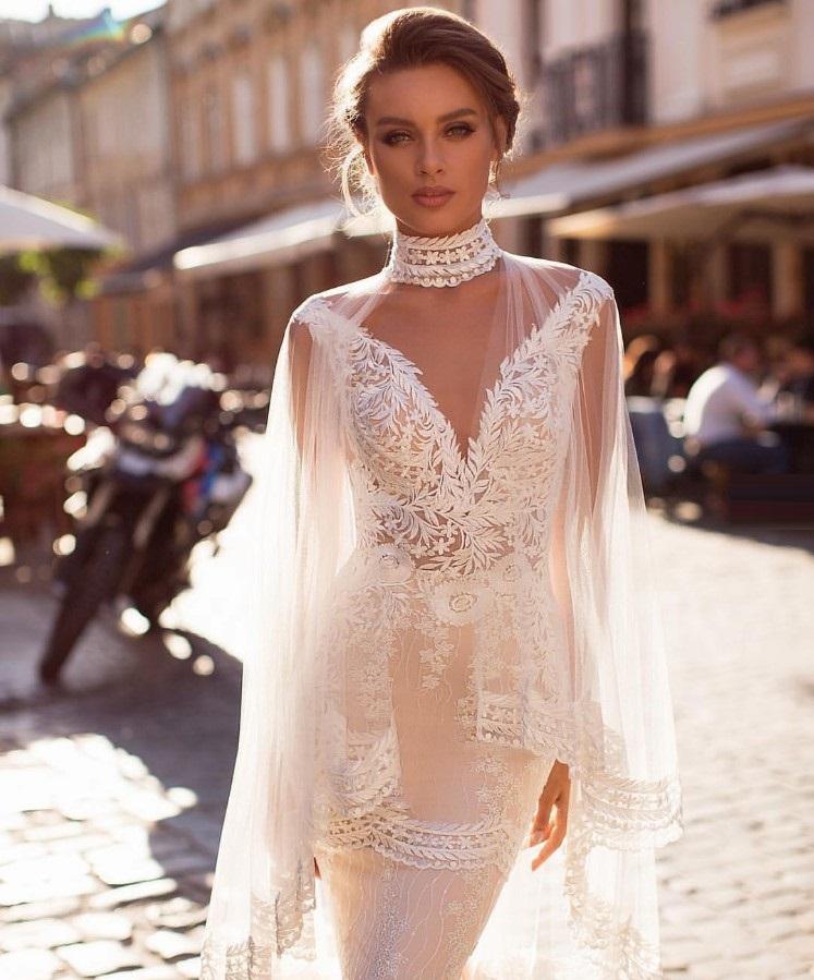 Кружевные свадебные платья 2019: самые красивые фасоны, фото