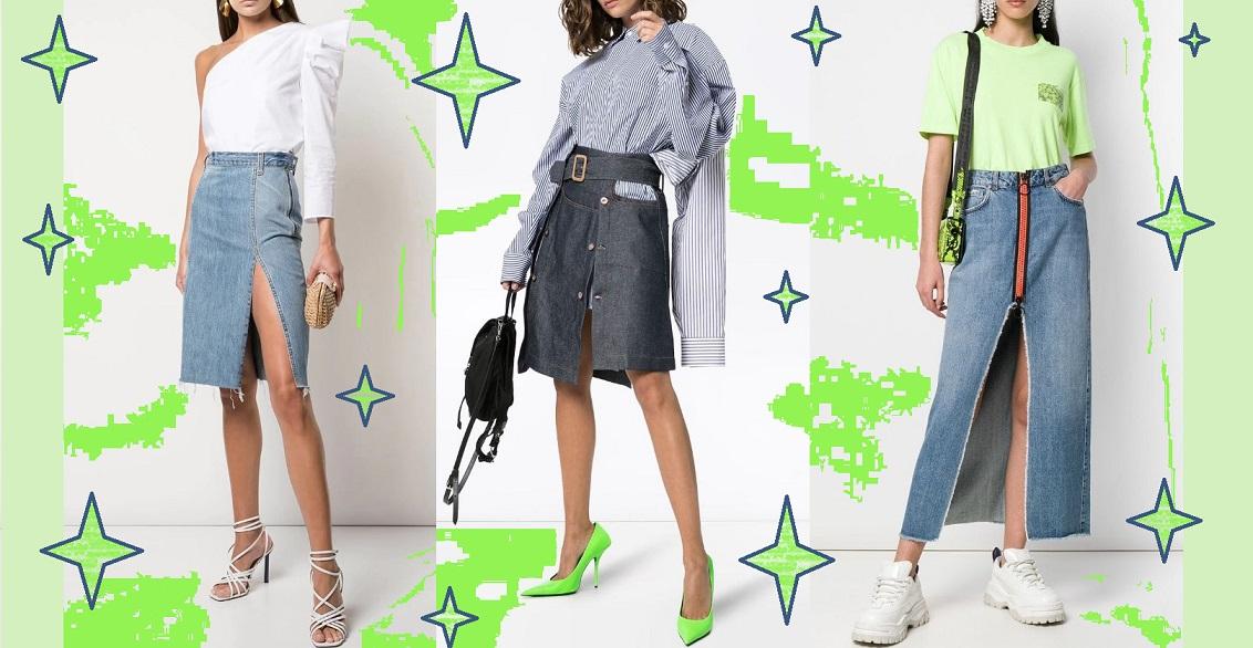 Модные джинсовые юбки 2019-2020