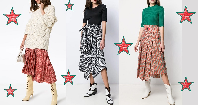 Модные теплые юбки холодного сезона 2019-2020