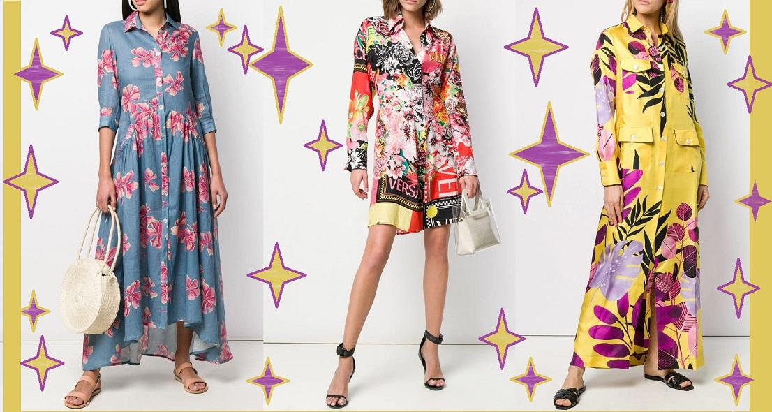 Платья-рубашки весна-лето 2021