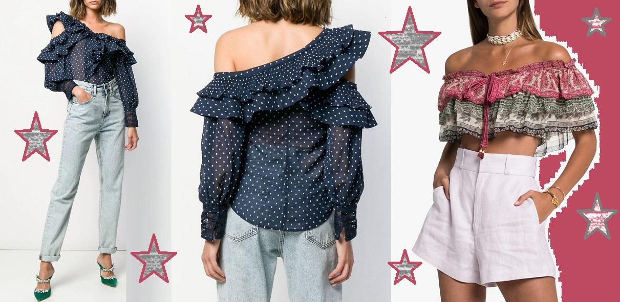Восхитительные луки с блузками с открытыми плечами