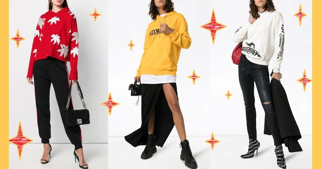 Модные образы со свитшотами 2019-2020