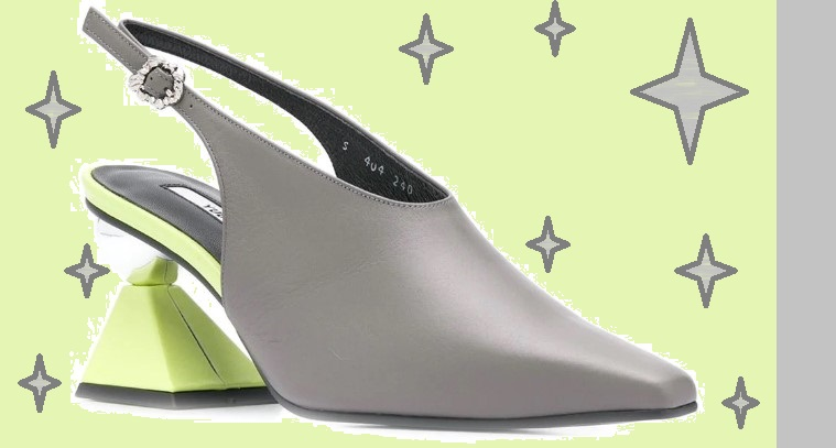 Модные туфли на низком каблуке