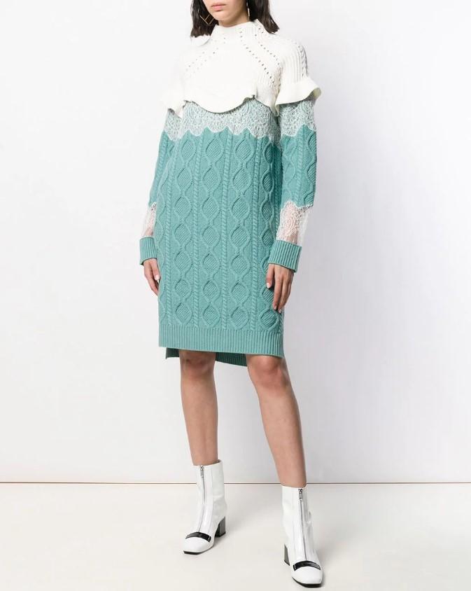 С чем носить вязаное платье 2020-2021