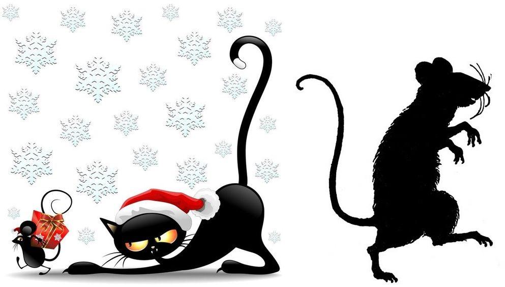 Рисунки на окнах к Новому 2020 году крысы: примеры