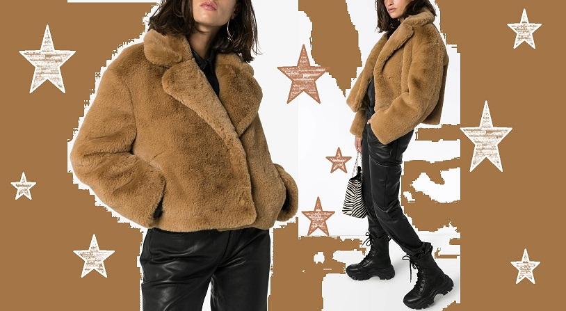 Модные образы с шубой из искусственного меха зима 2020