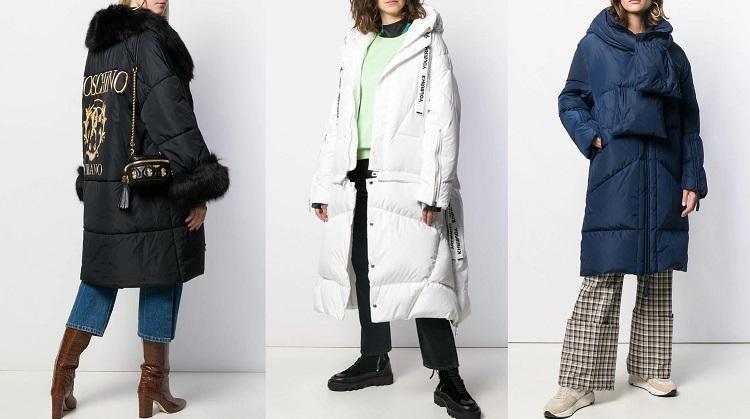 С какой обувью носить длинный пуховик зимой 2020-2021